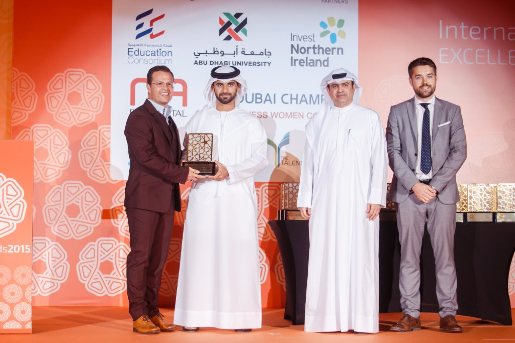 Pictured above (from left to right): GSD® CEO Graham Shapiro proudly receives the IBX Award from HH Sheikh Mansoor Bin Mohammed Bin Rashid Al Maktoum. Also in the photograph are HE Sami Al Qamzi, Director General of the Department of Economic Development (Dubai) and Mark Hamill, Managing Director of Awards International UAE.