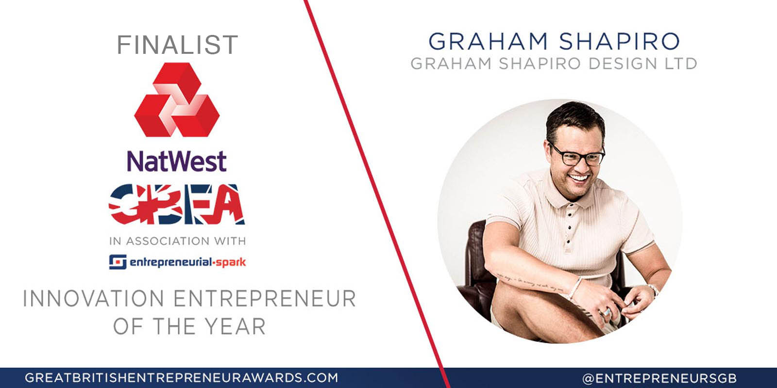 Graham Shapiro finalist for the 2017 NatWest Great British Entrepreneur Awards